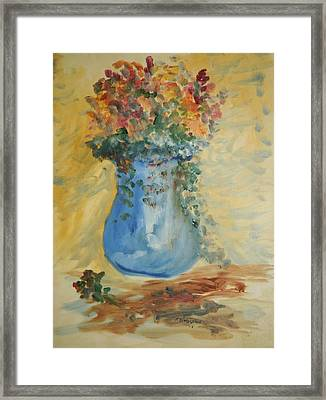 The Pot Belly Vase Framed Print by Edward Wolverton
