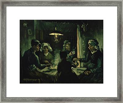 The Potato Eaters 1885 Framed Print by Vincent Van Gogh