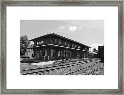 The Potlatch Train Station Framed Print by Matt McCune