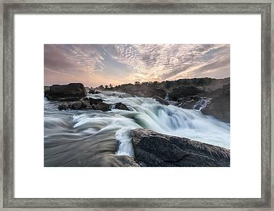 The Potomac River At Great Falls Framed Print by Mark VanDyke