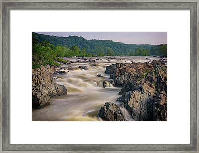 The Potomac River At Great Falls Framed Print by Rick Berk