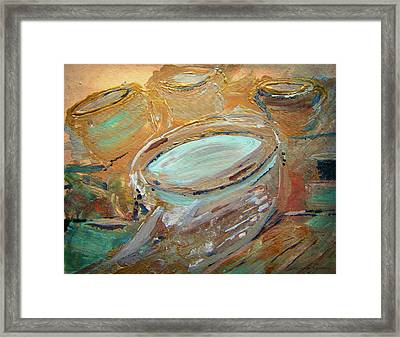 The Potter Canvas Framed Print