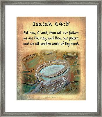 The Potter Bible Verses Framed Print