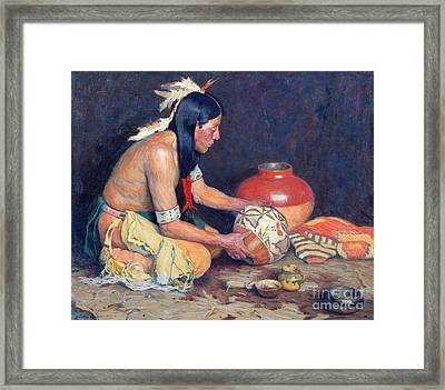 The Potter Framed Print by Eanger Irving Couse