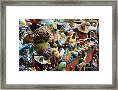The Potter's Work Framed Print by Chuck Hicks