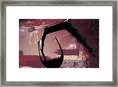 The Pour Framed Print