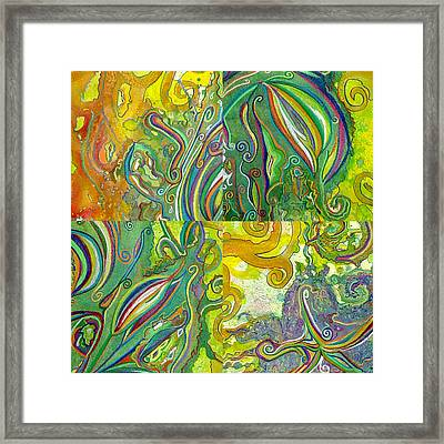 The Power Of 4 Framed Print by Sarah Crumpler