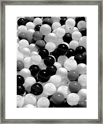 The Power Of Black And White Framed Print by Carol F Austin