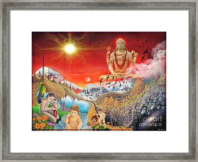 The Power Of Different Gods Framed Print