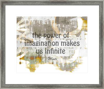 The Power Of Imagination -abstract Art With Text Framed Print by Ann Powell