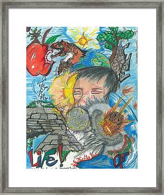The Power Of Life Framed Print by Justin Chase