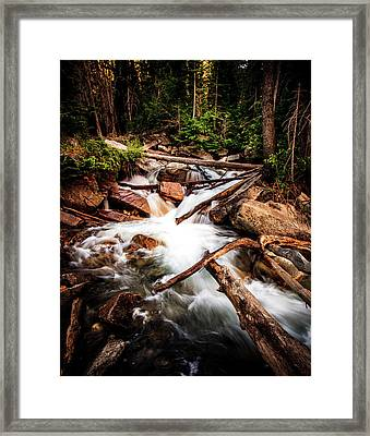 The Power Of Nature - Little Cottonwood Creek Framed Print by TL Mair