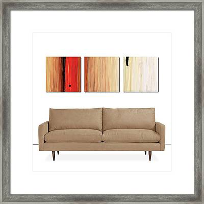 The Power Of One Triptych Framed Print by Sharon Cummings