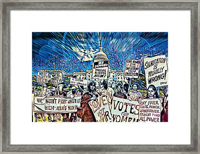 The Power Of Protest Framed Print