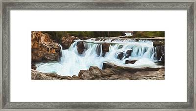 The Power Of The Falls II Framed Print