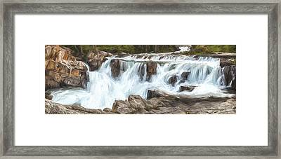 The Power Of The Falls IIi Framed Print