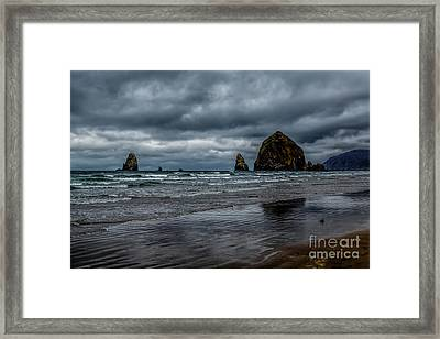 The Power Of The Sea Framed Print by Jon Burch Photography