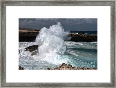 The Power Of The Sea Framed Print