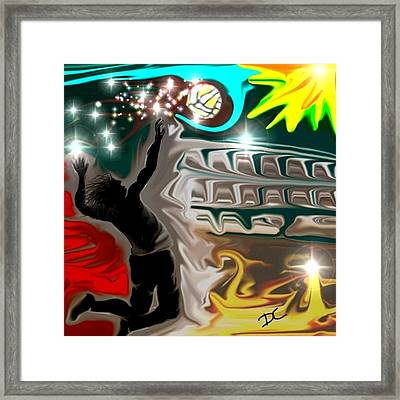 The Power Of Volleyball Framed Print