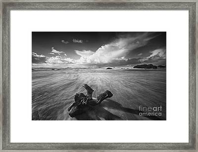 The Power Of Waves Framed Print