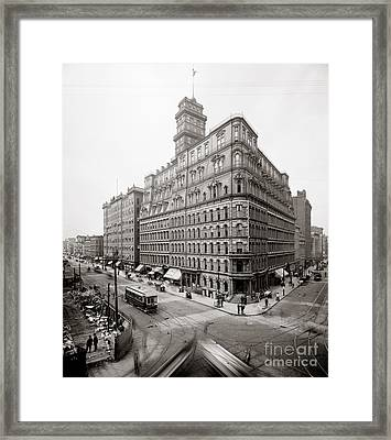 The Powers Building Framed Print by Celestial Images