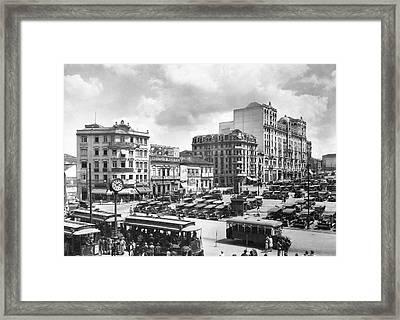 The Praca Da Se In Sao Paulo Framed Print by Underwood Archives