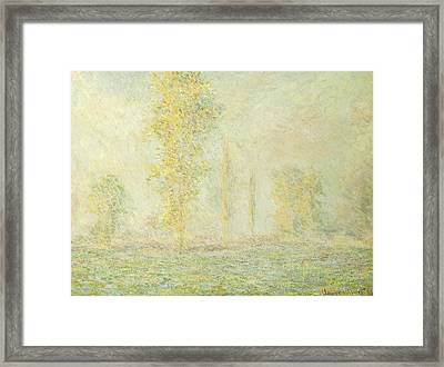 The Prairie In Giverny Framed Print by Claude Monet