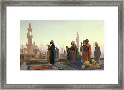 The Prayer Framed Print by Jean Leon Gerome