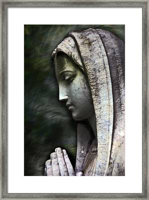 The Prayer Framed Print by Kelly Rader