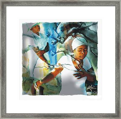 The Prayer Tree Haiti Framed Print