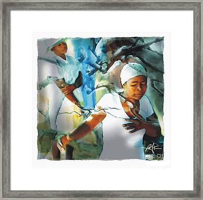 The Prayer Tree Haiti Framed Print