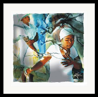Haitian Woman Framed Prints