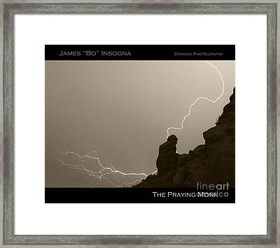 The Praying Monk Camelback Mountain Framed Print by James BO  Insogna