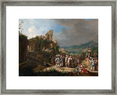 The Preaching Of St John The Baptist Framed Print by Bartholomeus Breenbergh
