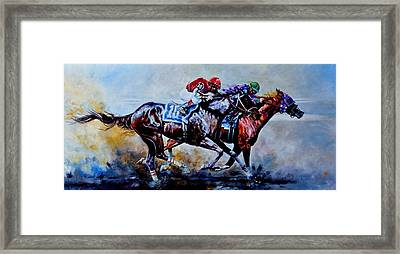 The Preakness Stakes Framed Print by Hanne Lore Koehler