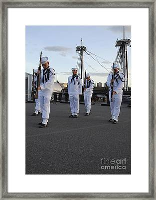 The Precision Rifle And Flag Drill Team Framed Print by Stocktrek Images