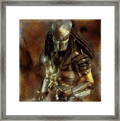 The Predator Scroll Framed Print