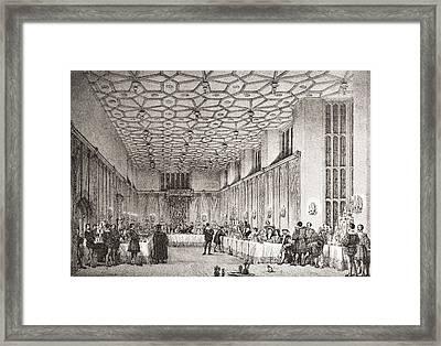 The Presence Chamber, Hampton Court Framed Print by Vintage Design Pics