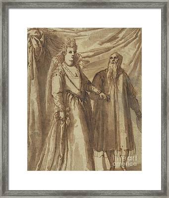 The Presentation Of The Bride Framed Print by Palma Il Giovane