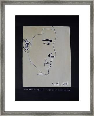 The President Barack Obama. Framed Print by Bucher