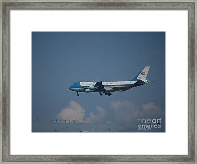 The President's Aircraft Framed Print