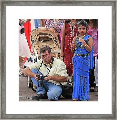 The Press Photographer Framed Print