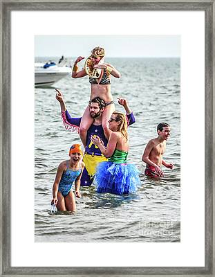 The Pretend Plunge Framed Print