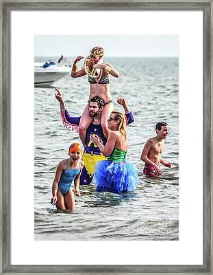 The Pretend Plunge Framed Print by Yvette Wilson