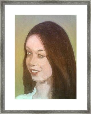 The Pretty Brunette Framed Print