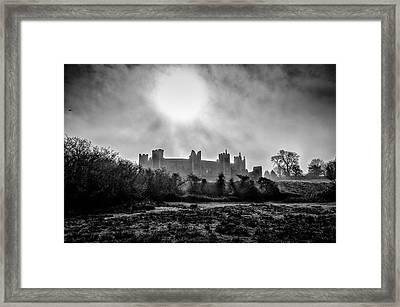 The Prevailing Sun. A Fine Art Photographic Print Of Framlingham Castle On A Foggy Suffolk Morning. Framed Print