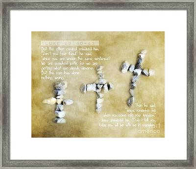 The Price - Verse Framed Print by Anita Faye