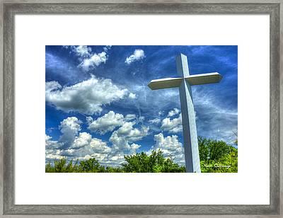 The Priceless Cross Gods Gift Art Framed Print by Reid Callaway