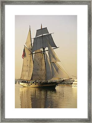 The Pride Of Baltimore Clipper Ship Framed Print by George Grall