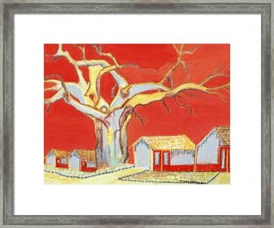 Framed Print featuring the painting The Pride Of The Village by Connie Valasco